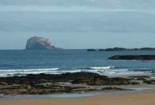 Bass Rock and East Beach North Berwick